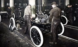 Ford's moving production line in 1913